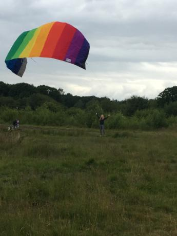 Kite flying over Hollow Ponds